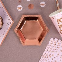 Glitz & Glamour Rose Gold Small Plates (8)
